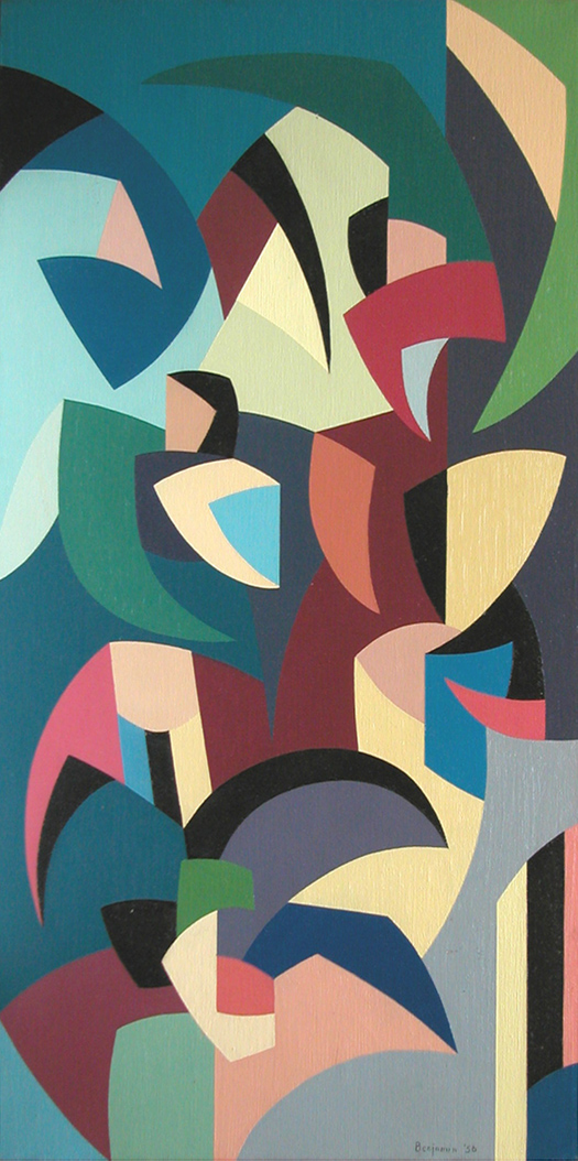 Plant Forms , 1956  oil on canvas 32 1/4 x 16 1/4 inches; 81.9 x 41.3 centimeters