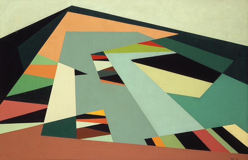 Chino Hills , 1957  oil on canvas 22 x 34 inches; 55.9 x 86.4 centimeters