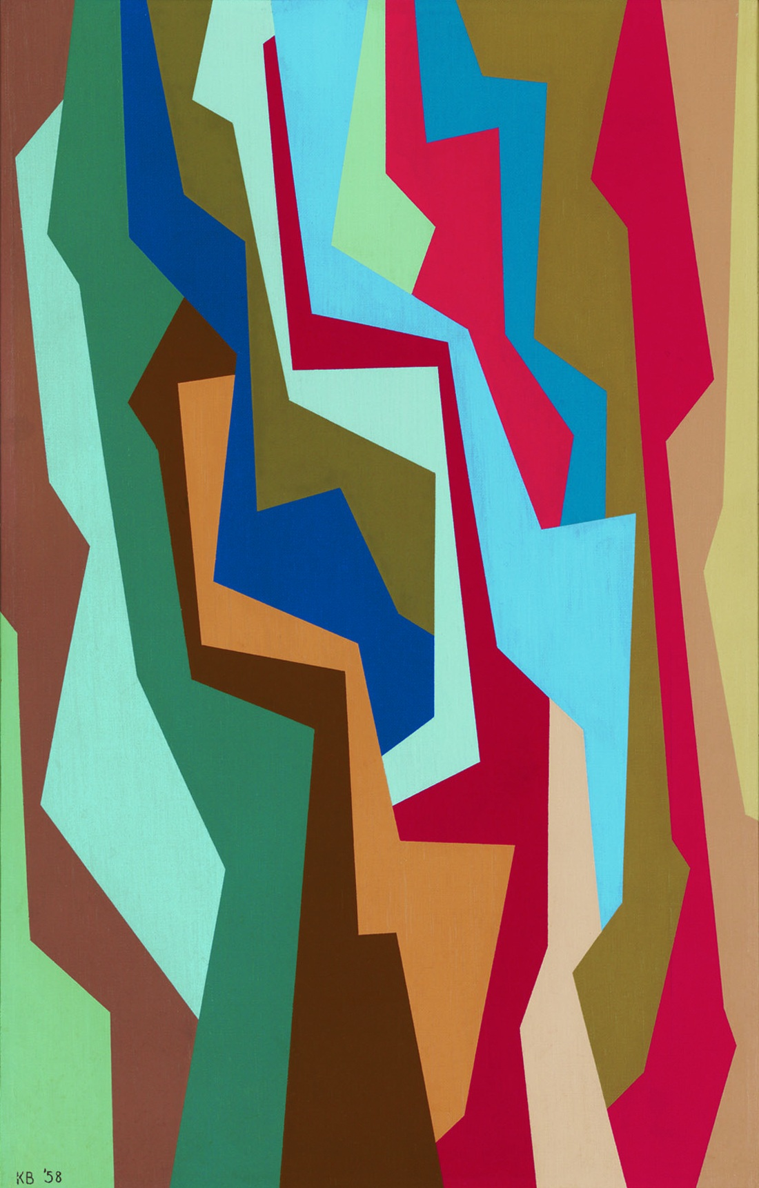 I.F. (Interlocking Forms) , 1958  oil on canvas 22 x 14 inches; 55.9 x 35.6 centimeters