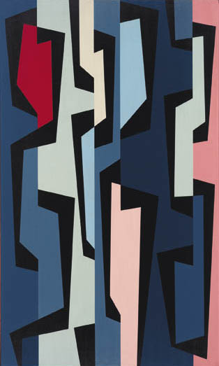 Totem Group III , 1957  oil on canvas 50 x 30 inches; 127 x 76.2 centimeters