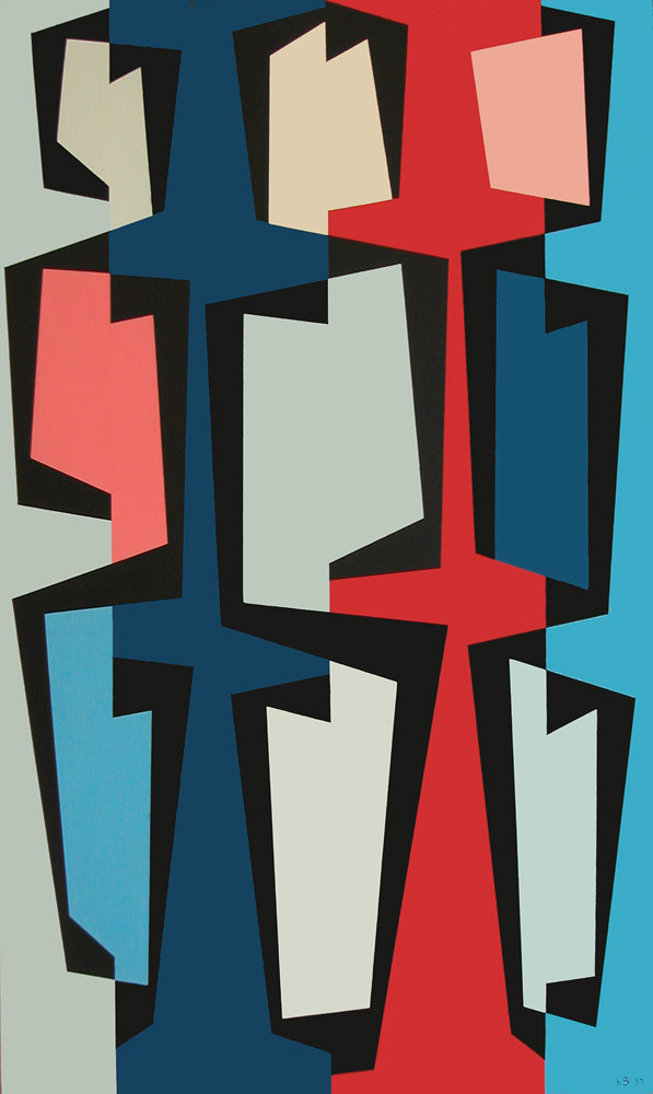 Totem Group V , 1957  oil on canvas 50 x 30 inches; 127 x 76.2 centimeters