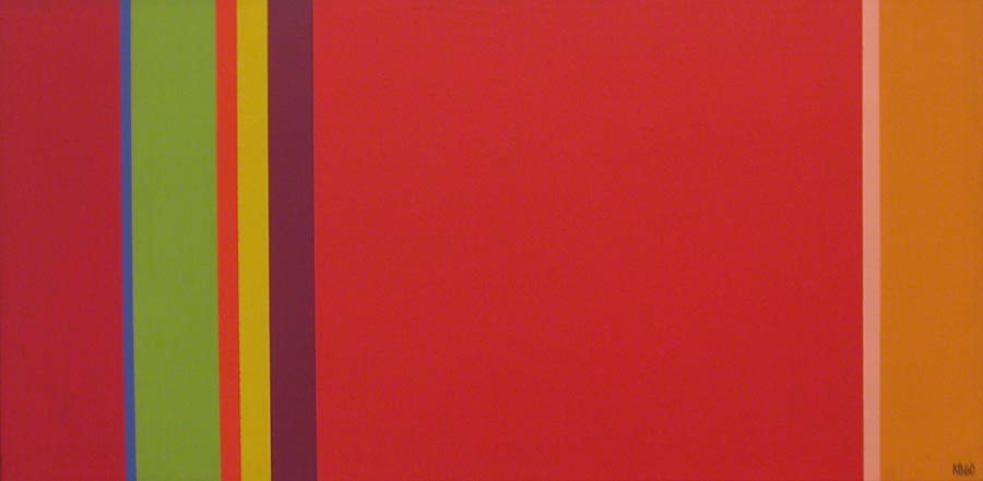 V.S. #3 , 1960  oil on canvas 12 x 24 inches; 30.5 x 61 centimeters