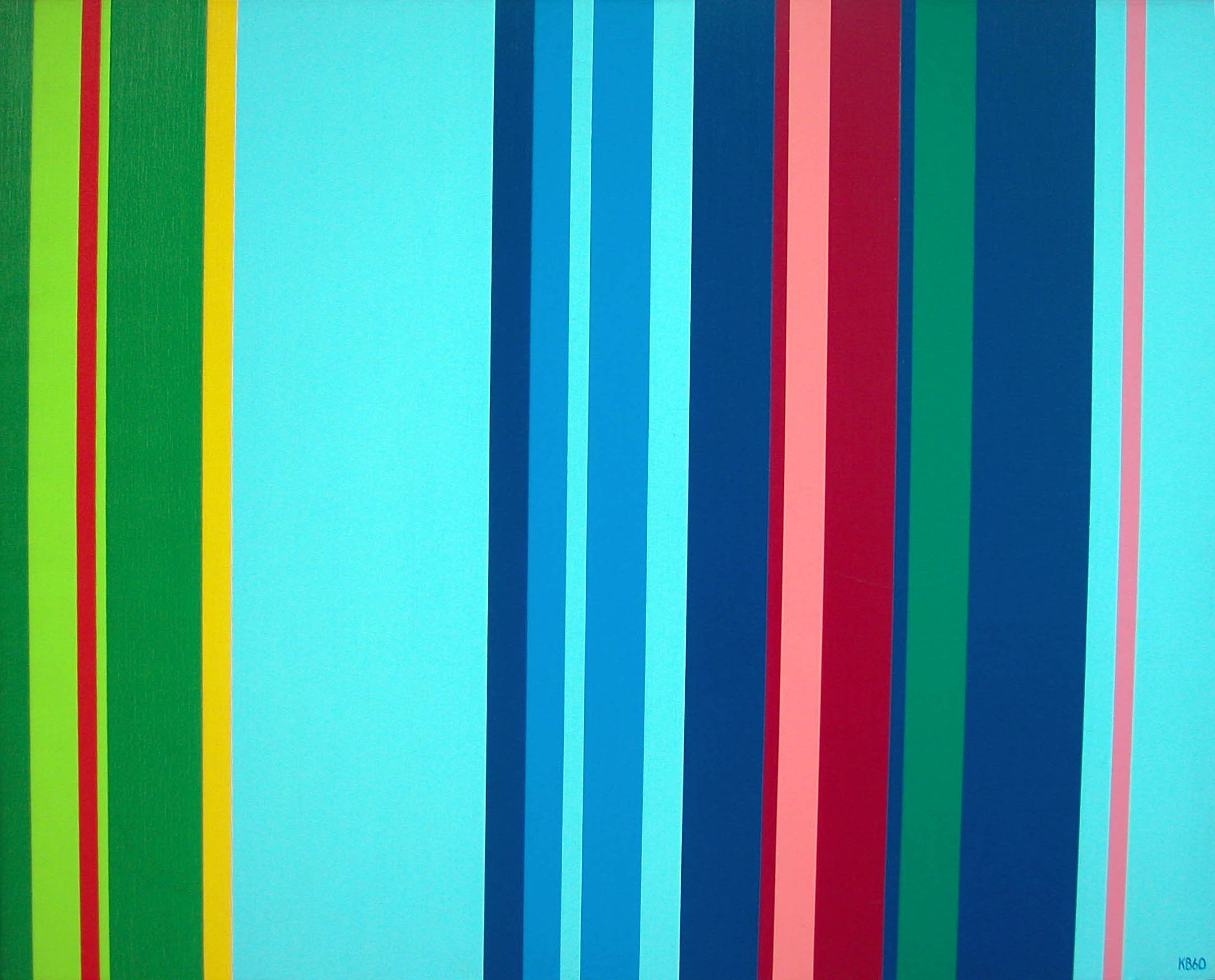V.S. #5 , 1960  oil on canvas 34 x 42 inches; 86.4 x 106.7 centimeters