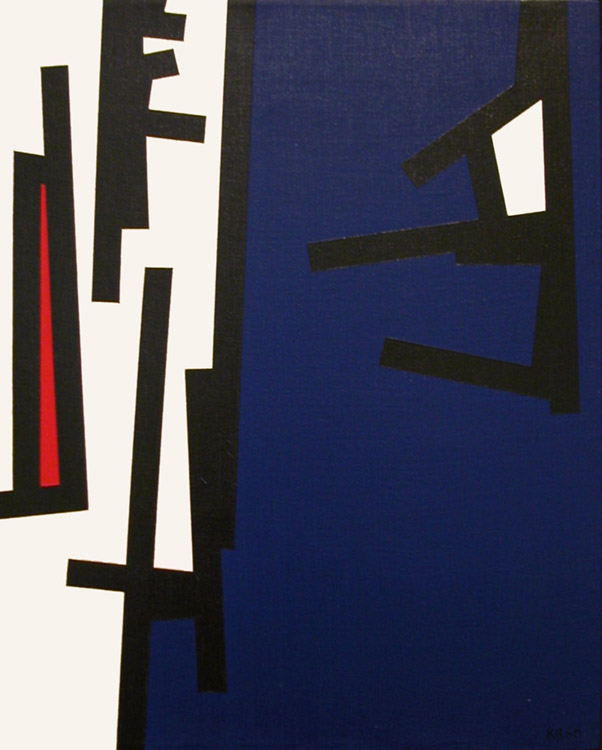 TG #5 , 1960  oil on canvas 20 x 16 inches; 50.8 x 40.6 centimeters