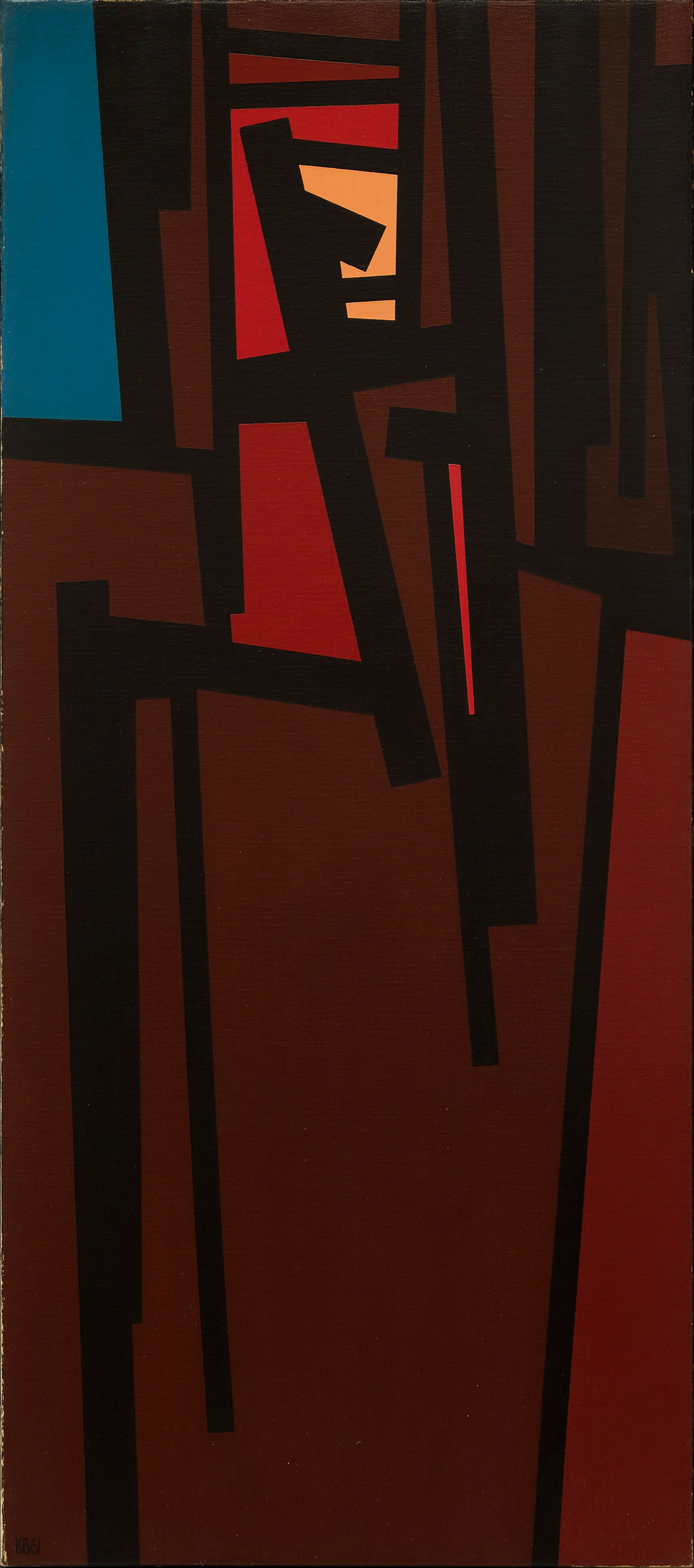 TG #10 , 1961  oil on canvas 46 x 20 inches; 116.8 x 50.8 centimeters