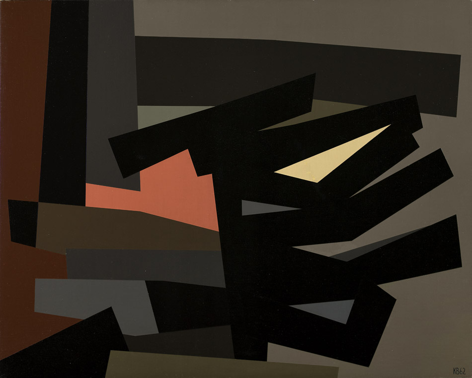 Black on Black #5 , 1962  oil on canvas 32 x 40 inches; 81.3 x 101.6 centimeters