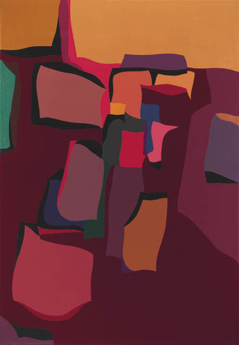 Landscape Forms , 1961  oil on canvas 60 1/4 x 42 inches; 153 x 106.7