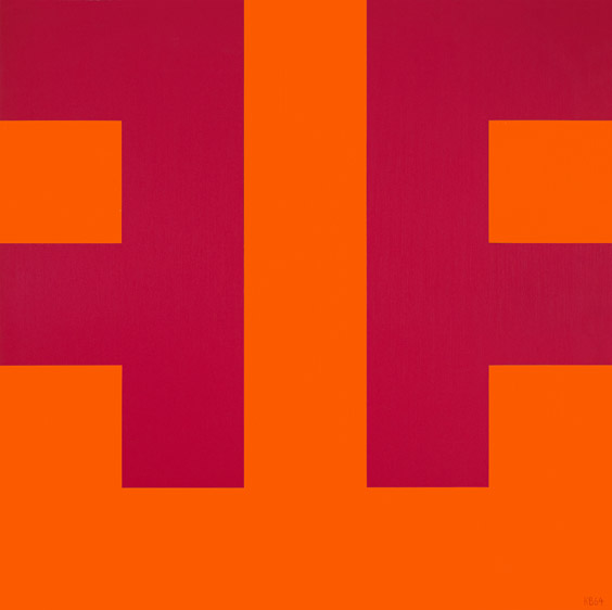 #35 , 1964  oil on canvas 50 x 50 inches; 127 x 127 centimeters