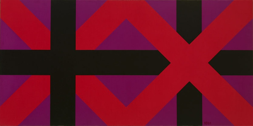 #42 , 1964  oil on canvas 25 1/2 x 51 inches; 64.8 x 129.5 centimeters