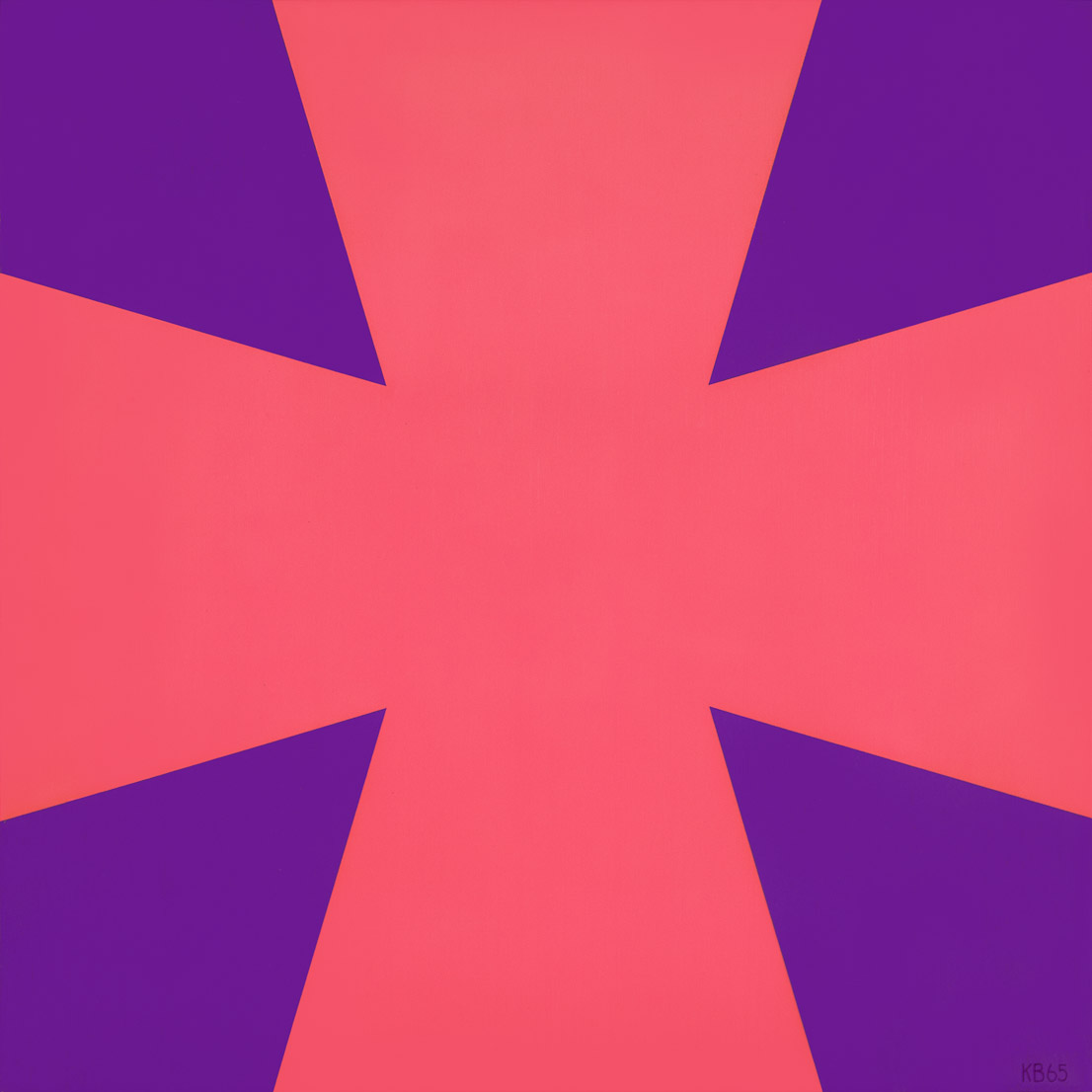 #11 , 1965  oil on canvas 30 x 30 inches; 76.2 x 76.2 centimeters