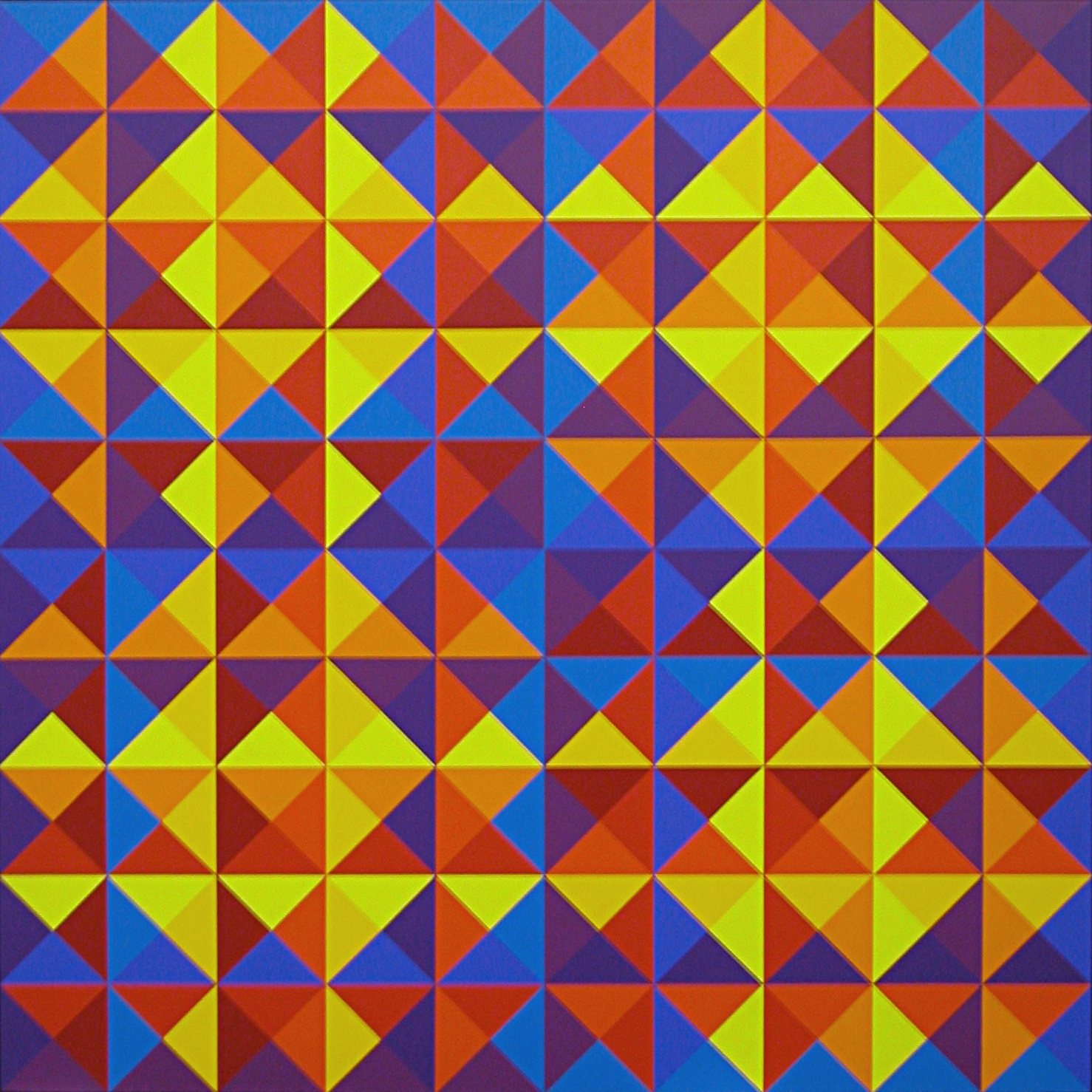 #25 , 1969  oil on canvas 57 x 57 inches; 147.3 x 147.3 centimeters