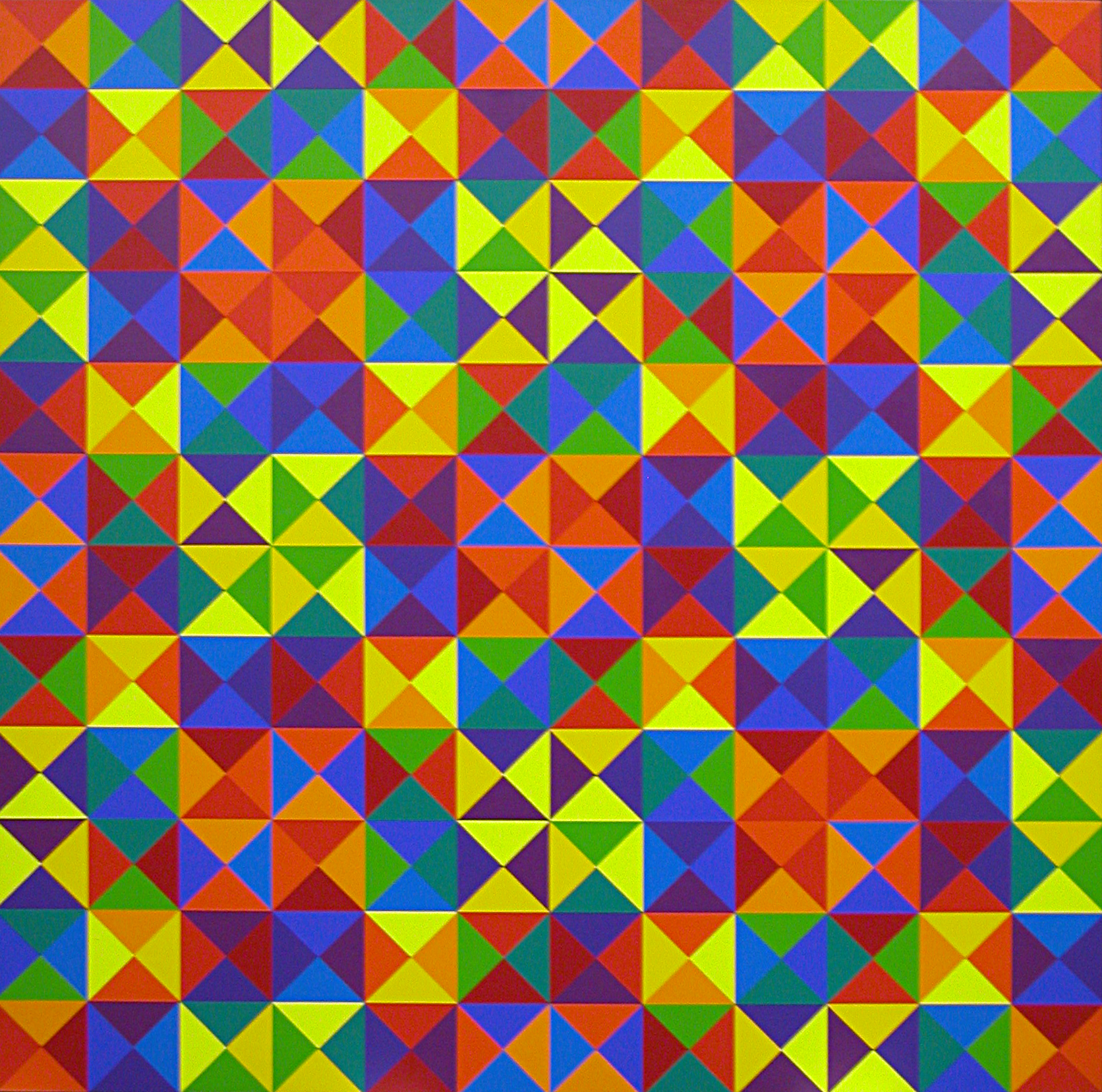 #9 , 1969  oil on canvas 68 x 68 inches; 175.3 x 175.3 centimeters
