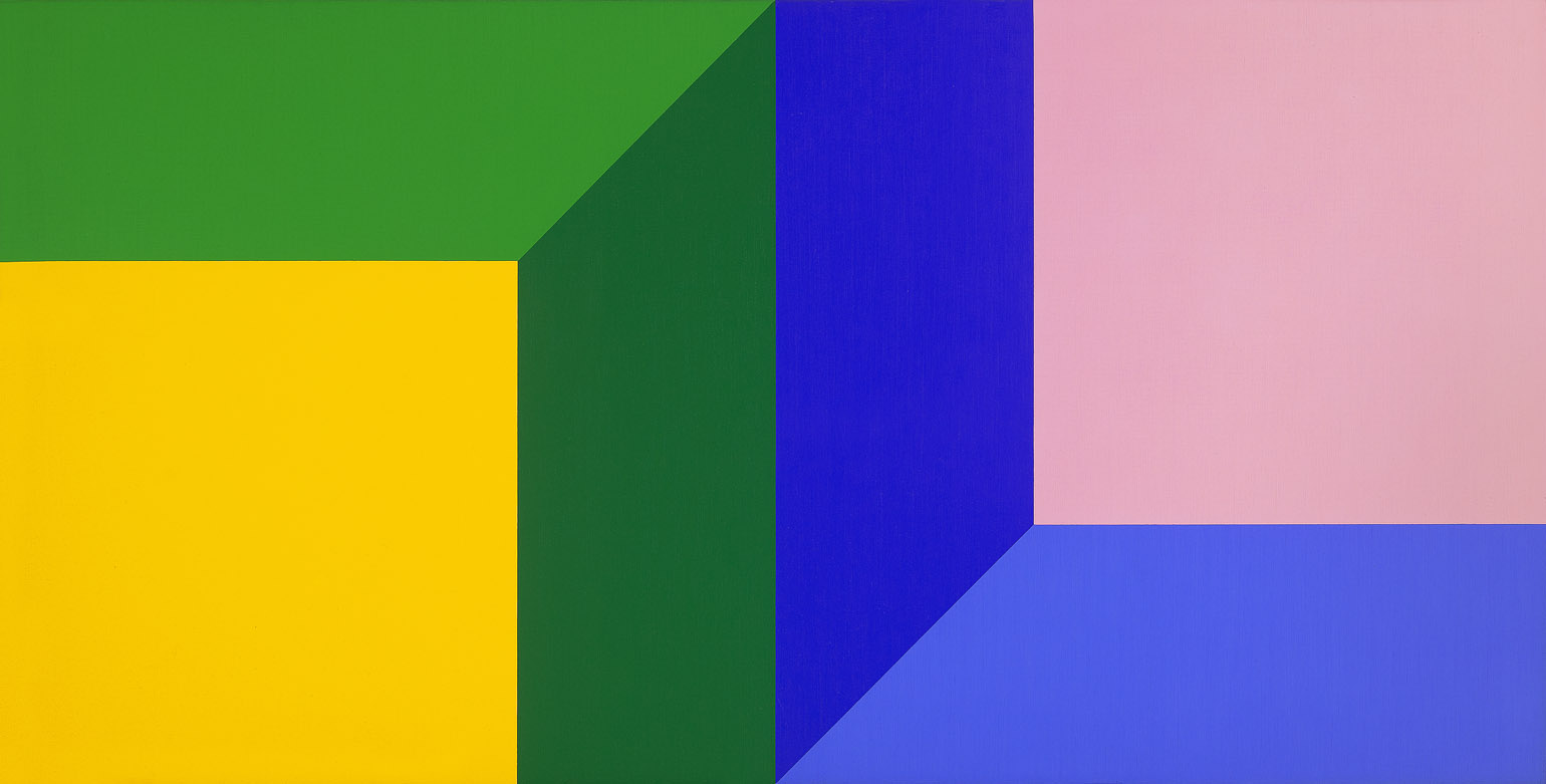 #11 , 1974  oil on canvas 25 x 49 inches; 63.5 x 124.5 centimeters