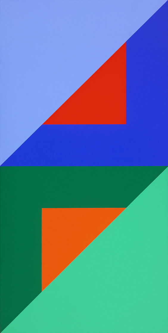 #4 , 1975  oil on canvas 40 x 20 inches; 101.6 x 50.8 centimeters