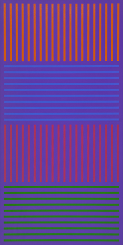 #16 , 1976  oil on canvas 62 x 31 inches; 157.5 x 78.7 centimeters