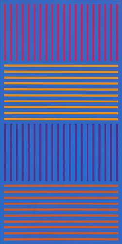 #21 , 1976  oil on canvas 62 x 31 inches; 157.5 x 78.7 centimeters