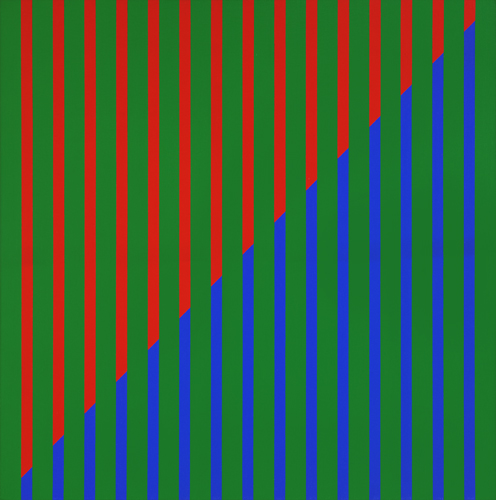 #27 , 1976  oil on canvas 23 1/2 x 23 1/2 inches; 59.7 x 59.7 centimeters