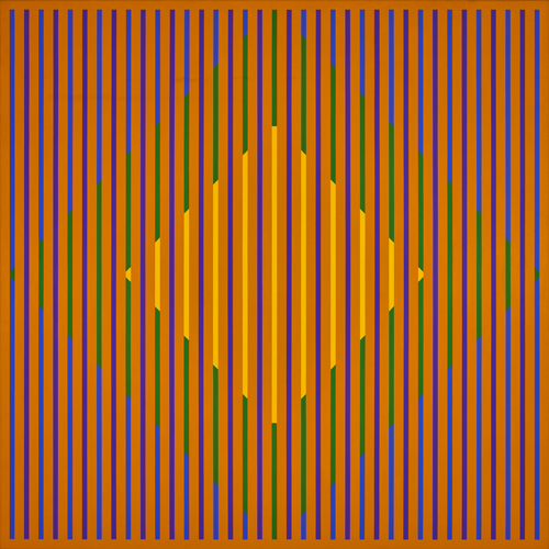 #13 , 1977  oil on canvas 56 1/2 x 56 1/2 inches; 143.5 x 143.5 centimeters