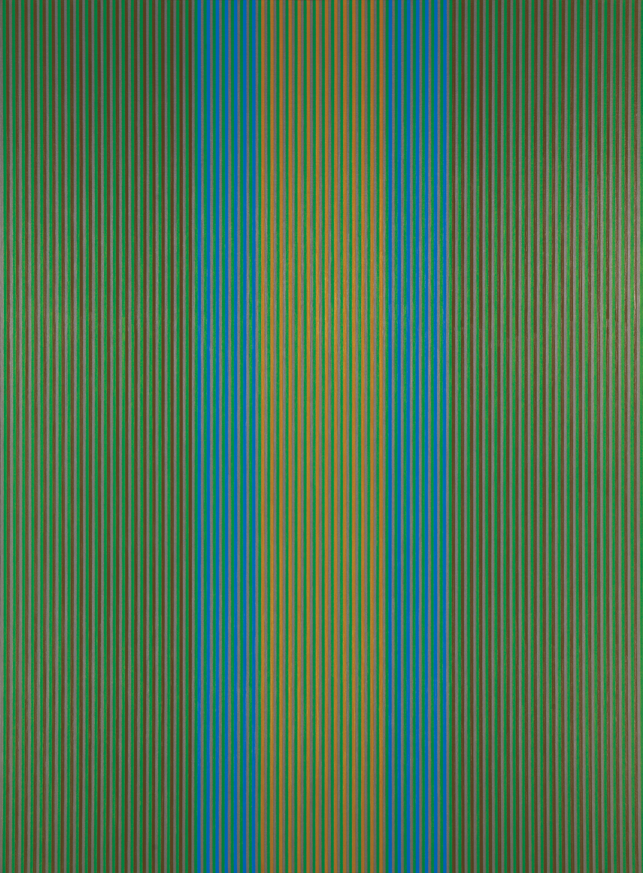 #21 (green, brown) , 1979  oil on canvas 72 x 54 inches; 182.9 x 137.2 centimeters