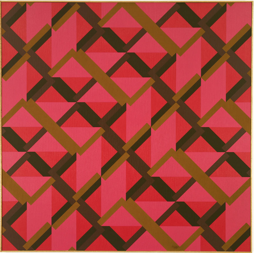 #14 , 1982  oil on canvas 60 x 60 inches; 71.1 x 172.7 centimeters