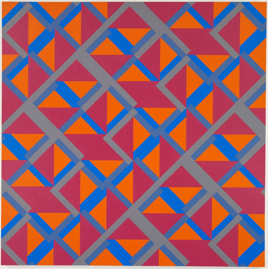 #9 , 1982 oil on canvas 60 x 60 inches; 152.4 x 152.4 centimeters