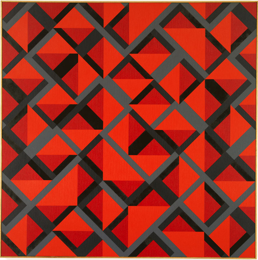 #4 , 1982  oil on canvas 60 x 60 inches; 152.4 x 152.4 centimeters