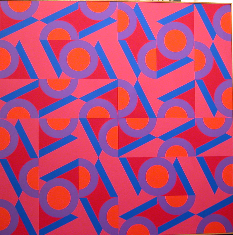 V.C. #27 , 1984  oil on canvas 60 x 60 inches; 152.4 x 152.4 centimeters