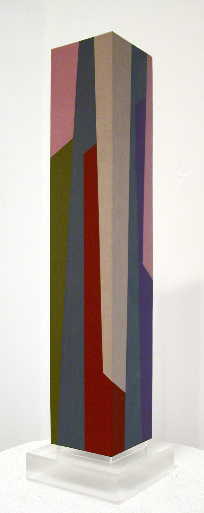Column #3 , 1987  oil on canvas mounted on wood 29 x 5 1/2 x 5 1/2 inches; 73.7 x 14 x 14 centimeters