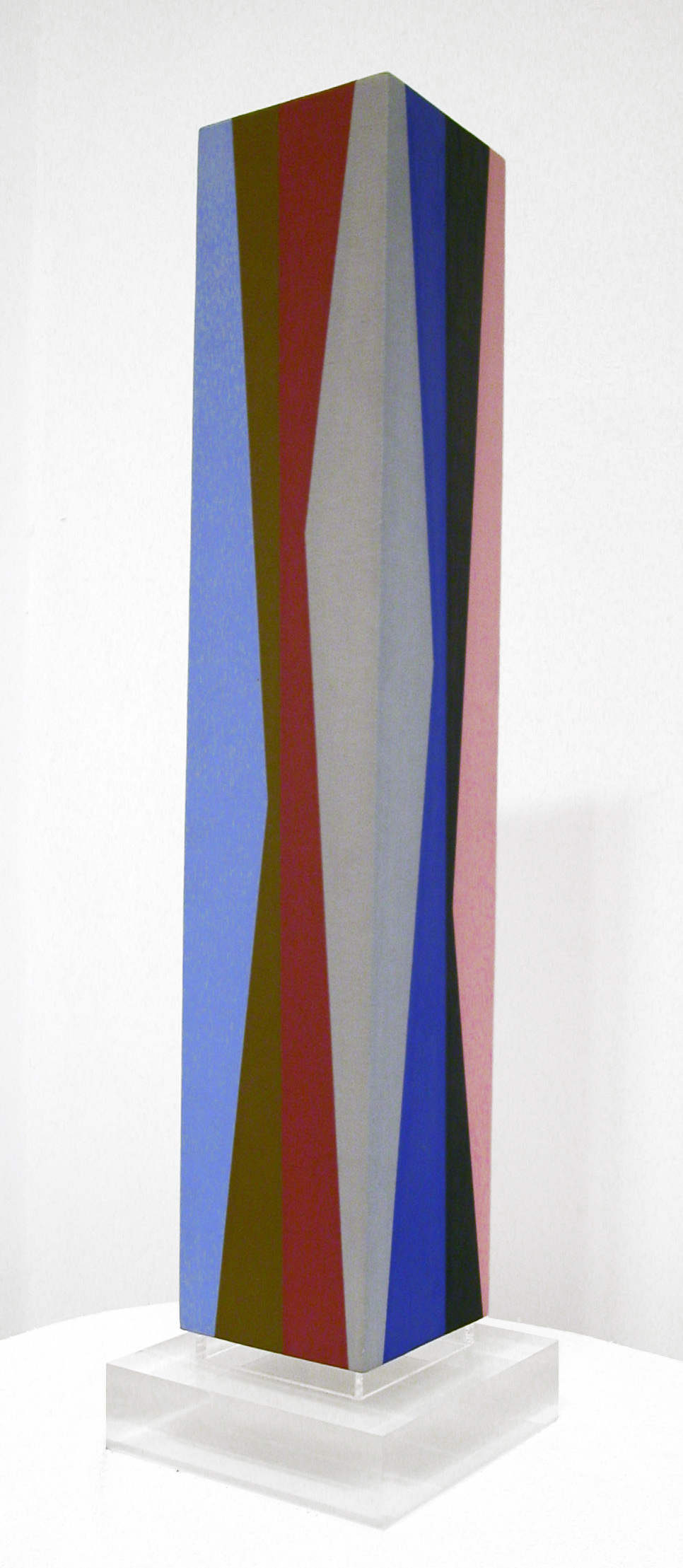 Column #1 , 1988  oil on canvas mounted on wood 29 x 5 1/2 x 5 1/2 inches; 73.7 x 14 x 14 centimeters