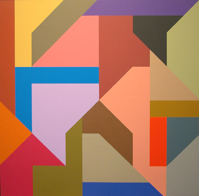 #1 , 1989  oil on canvas 60 x 60 inches; 152.4 x 152.4 centimeters