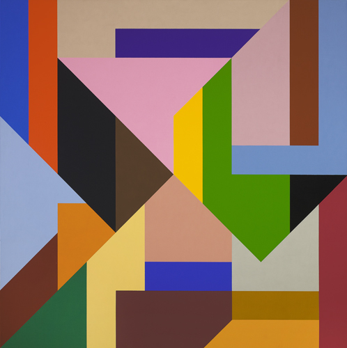 #3 , 1989  oil on canvas 60 x 60 inches; 152.4 x 152.4 centimeters