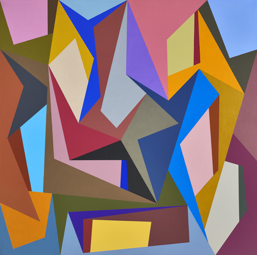 #7 , 1989  oil on canvas 60 x 60 inches; 152.4 x 152.4 centimeters