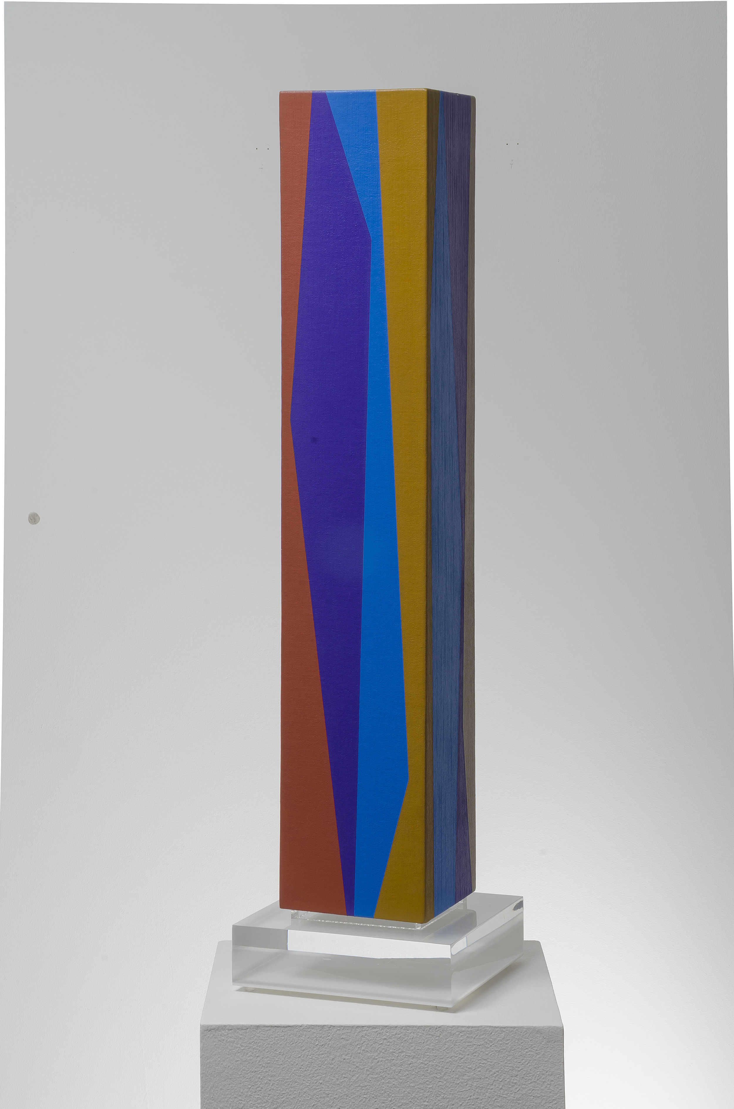 Column #2 , 1990  oil on canvas mounted on wood 31 x 5 1/2 x 5 1/2 inches; 78.7 x 14 x 14 centimeters