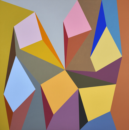 #8 , 1990  oil on canvas 60 x 60 inches; 152.4 x 152.4 centimeters