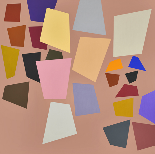 #2 , 1991  oil on canvas 60 x 60 inches; 152.4 x 152.4 centimeters