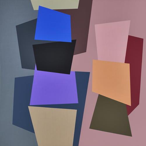 #4 , 1991  oil on canvas 60 x 60 inches; 152.4 x 152.4 centimeters
