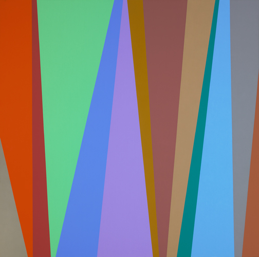 #3 , 1995  oil on canvas 48 x 48 inches; 121.9 x 121.9 centimeters