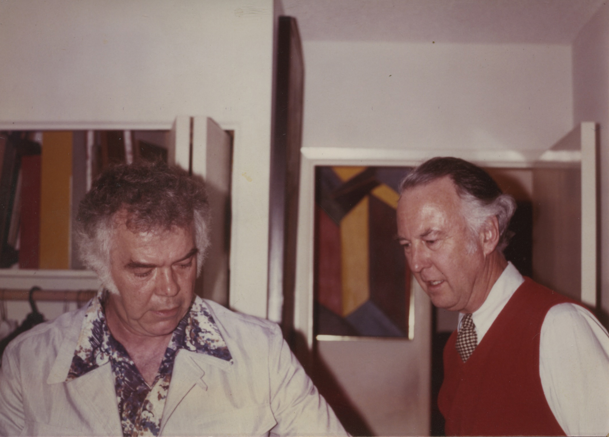 Karl Benjamin and Frederick Hammersley, 1981.