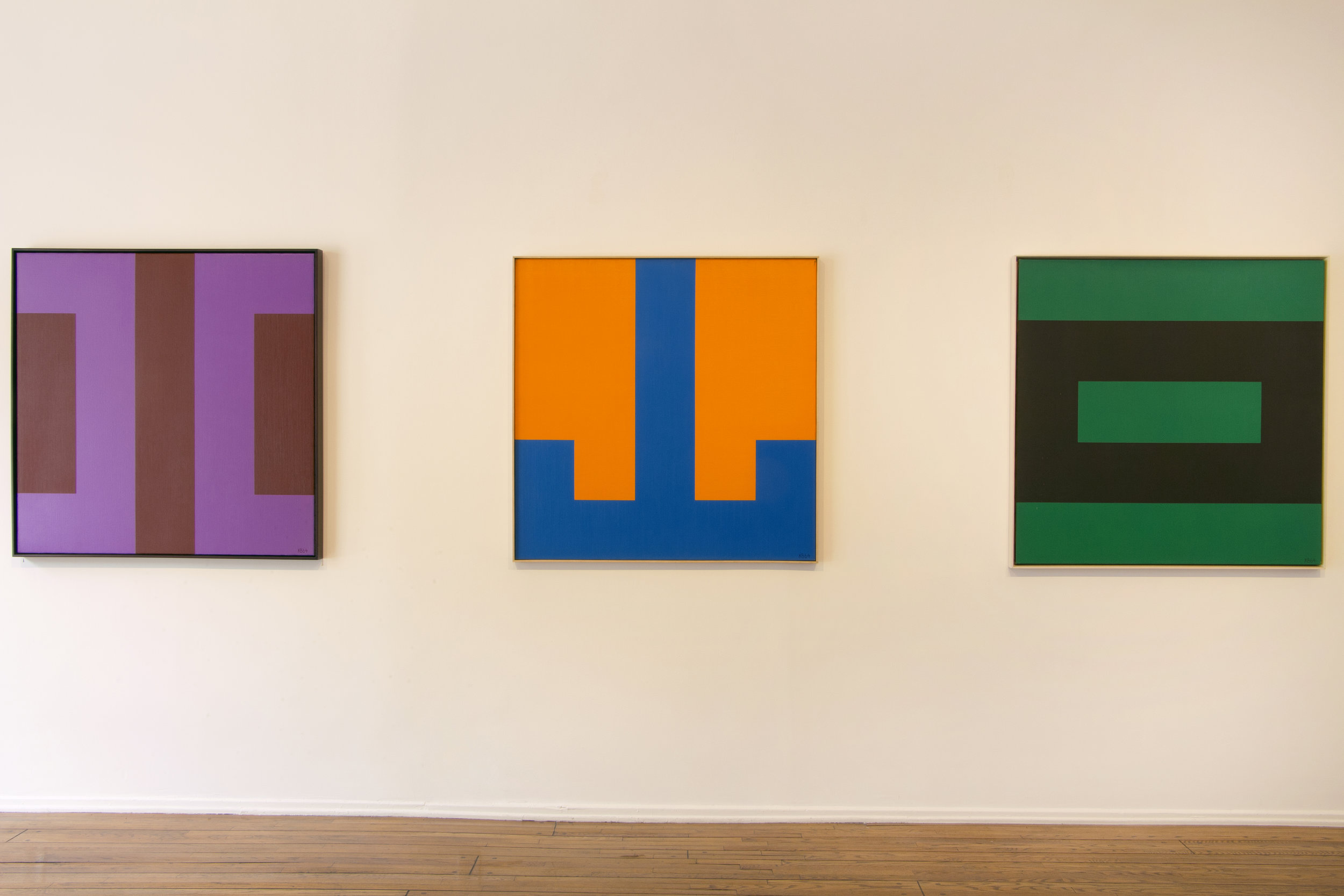 Karl Benjamin: The Alphabet  at Louis Stern Fine Arts, 2017