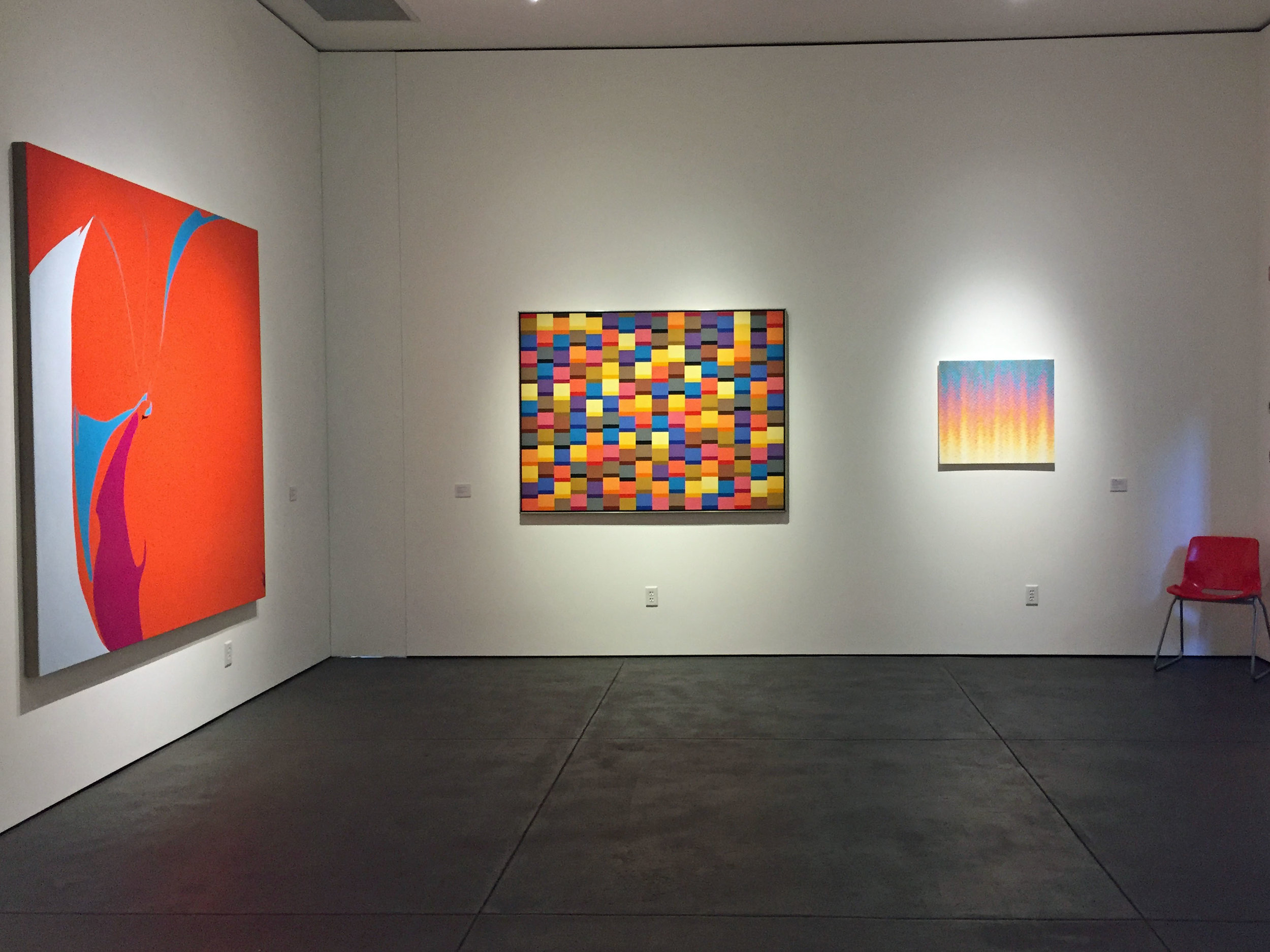 Intersecting at the Edge: Karl Benjamin, Heather Gwen Martin and Eric Zammitt,  Claremont Museum of Art, 2018