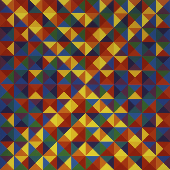 #27, 1968 oil on canvas 79 x 79 inches; 200.66 x 200.66 centimeters  Los Angeles County Museum of Art (LACMA)