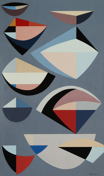 Abstraction  Oil on canvas, 1955 50 x 30 inches; 127 x 76.2 centimeters  Laguna Art Museum