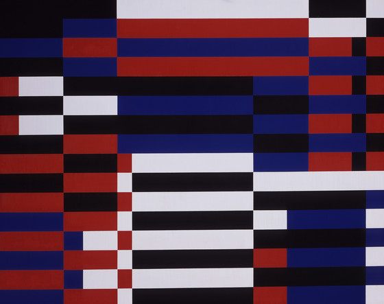 Bars #7, 1955 oil on canvas 40 x 50 inches; 101.6 x 127 centimeters  Los Angeles County Museum of Art (LACMA)