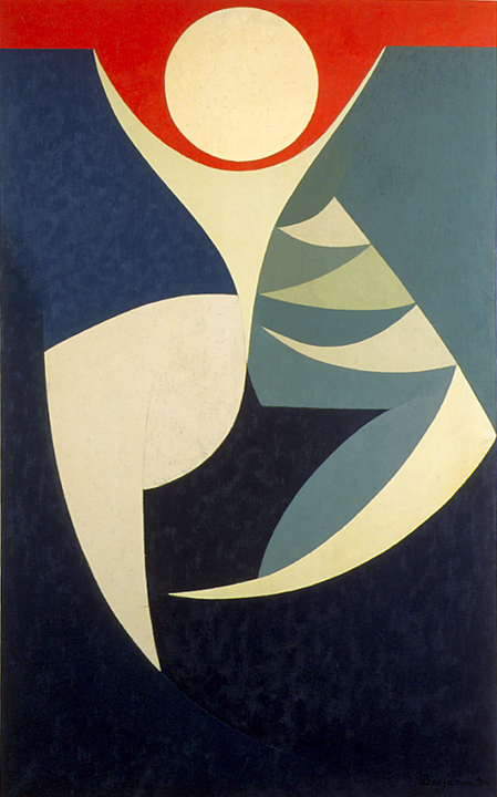 White Figure on a Red Sky , 1954 oil on canvas 48 in. x 30 1/8 inches; 121.92 x 76.52 centimeters  Long Beach Museum of Art