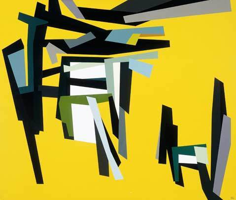FS #1 , 1961 oil on canvas 42 x 50 inches; 106.7 x 127 centimeters  Santa Barbara Museum of Art