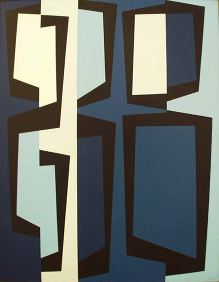 Totem Group II, 1957 oil on canvas 50 × 40 inches; 127 × 101.6 centimeters