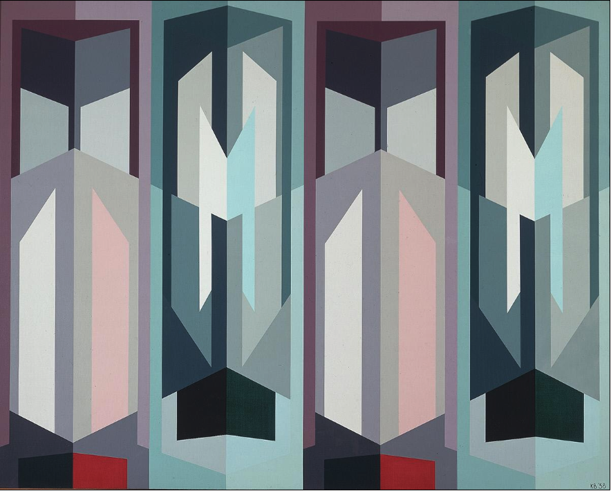 Untitled, 1958 oil on canvas 40 x 50 inches; 101.6 x 127 centimeters  Santa Barbara Museum of Art