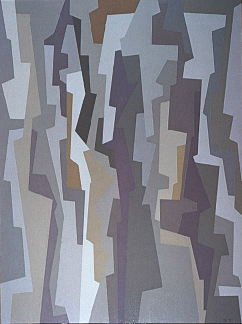 I.F. Ochre Umber Violet , 1958 oil on canvas 39 15/16 × 30 1/16 inches; 101.4 × 76.4 centimeters  Whitney Museum of American Art