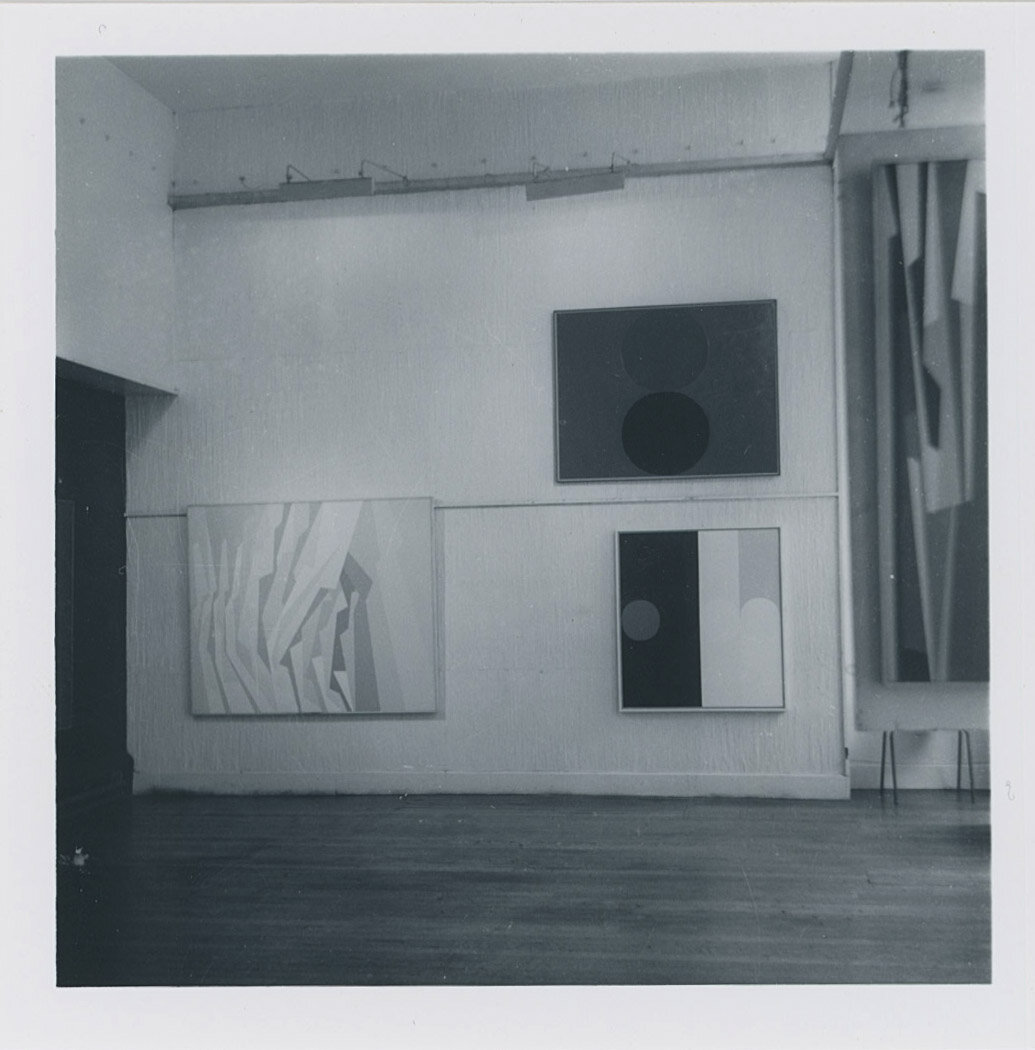 Paintings by Karl Benjamin and Frederick Hammersley  West Coast Hard Edge  at the Institute of Contemporary Art (ICA), London, 1960.