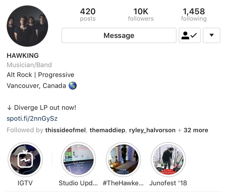 Being at the top of the profile, IGTV is a great place to put your key content.